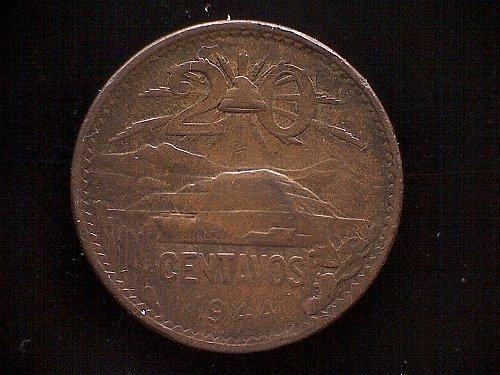 1944MO MEXICO TWENTY CENTAVOS