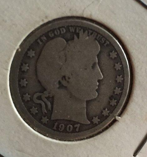 1907 Barber Quarter - inherited from my stepdad