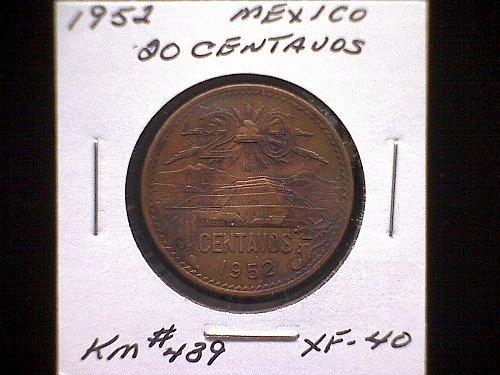 1952MO MEXICO TWENTY CENTAVOS