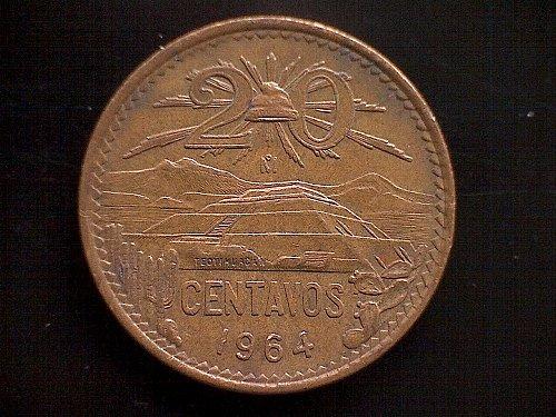 1964MO MEXICO TWENTY CENTAVOS