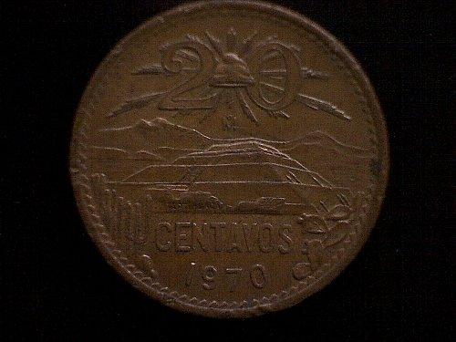 1970MO MEXICO TWENTY CENTAVOS