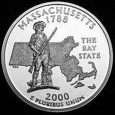 2000 S  SILVER PROOF  MASSACHUSETTS STATE QUARTER
