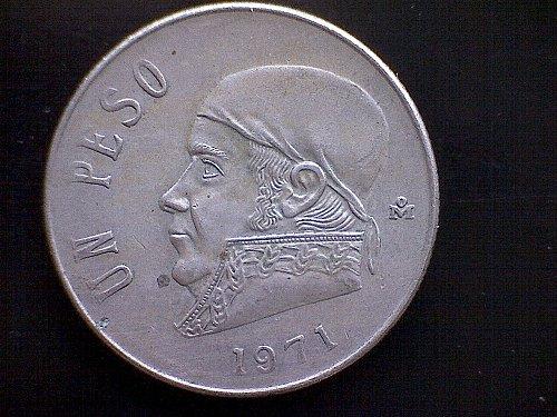 1971MO MEXICO ONE PESO