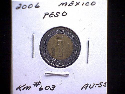 2006MO MEXICO ONE PESO 'BI-METALLIC'