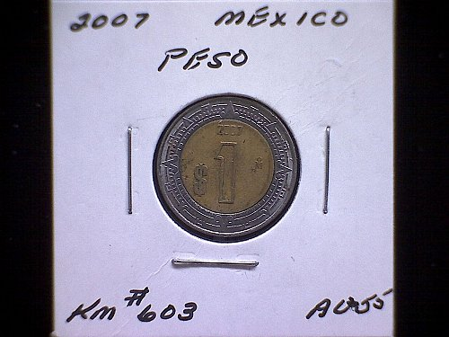 2007MO MEXICO ONE PESO 'BI-METALLIC'
