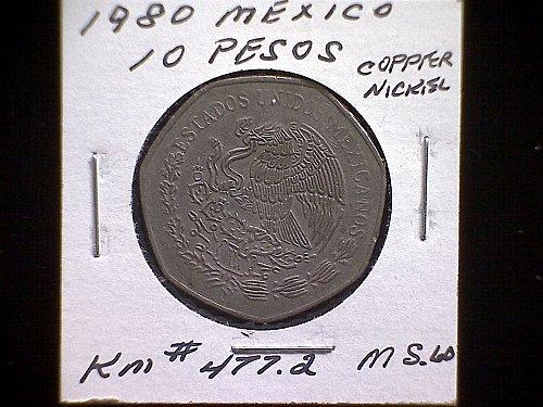1980MO MEXICO TEN PESOS