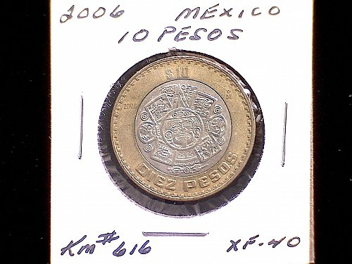 2006MO MEXICO TEN PESO 'BI-METALLIC'