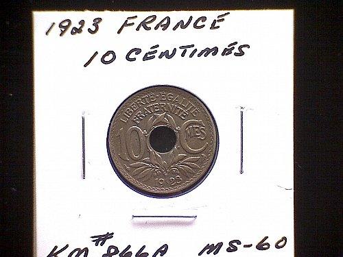 1923 FRANCE TEN CENTIMES
