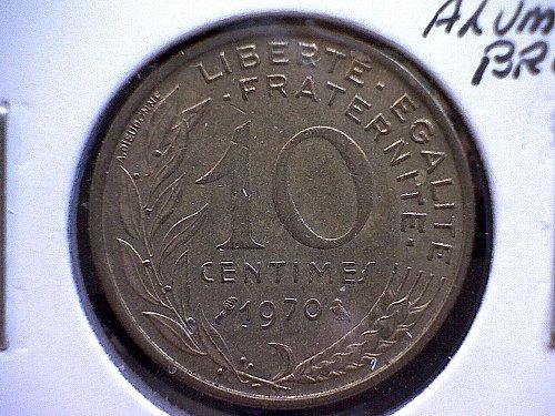 1970 FRANCE TEN CENTIMES