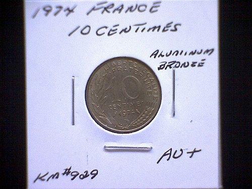 1974 FRANCE TEN CENTIMES