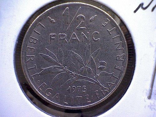 1975 FRANCE HALF FRANC