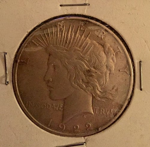 1922 Peace Dollar - part of an inheritence