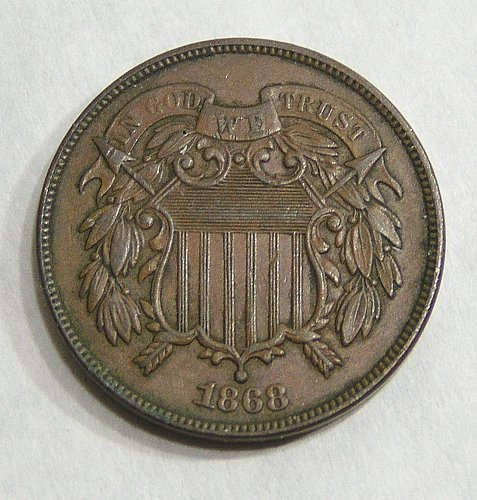 1868 Two Cent Piece - XF