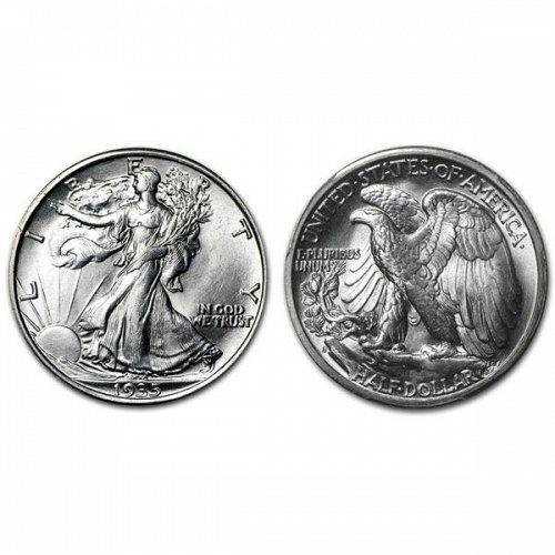 1935 D Walking Liberty Half Dollar - BU