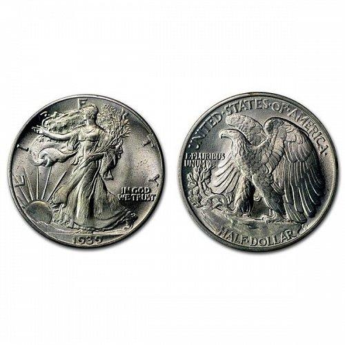 1939 Walking Liberty Half Dollar - BU
