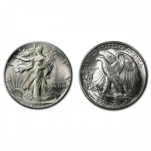 1939 S Walking Liberty Half Dollar - BU