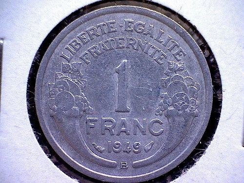 1949B FRANCE ONE FRANC