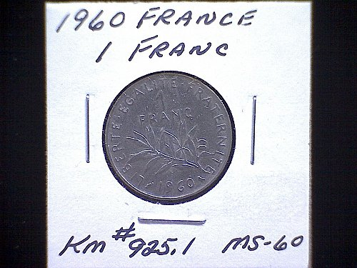 1960 FRANCE ONE FRANC