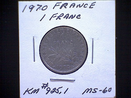 1970 FRANCE ONE FRANC