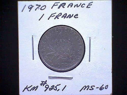 1970 FRANCE ONE FRANC