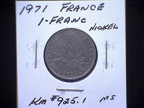 1971 FRANCE ONE FRANC