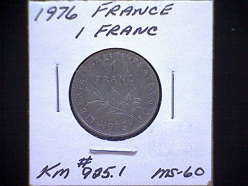 1976 FRANCE ONE FRANC