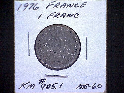 1976 FRANCE ONE FRANC