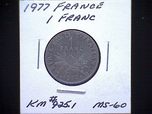 1977 FRANCE ONE FRANC