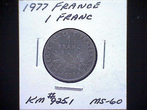1977 FRANCE ONE FRANC