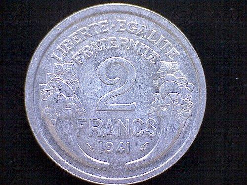 1941 FRANCE TWO FRANC