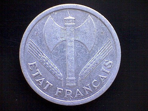1944B FRANCE TWO FRANC