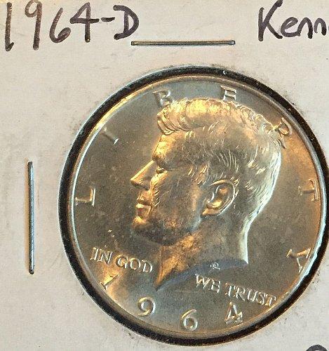 1964 D Kennedy Half Dollar - 90% silver