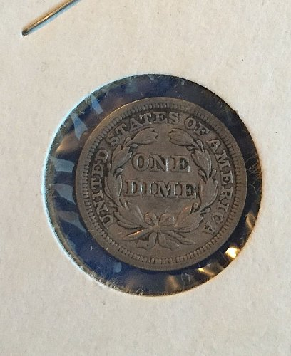 1850 seated liberty dime ( 90% silver)