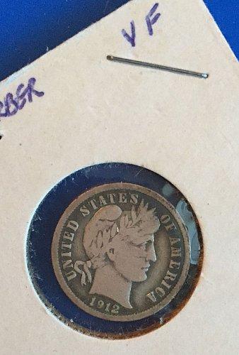 1912 Barber Dime (90% silver)