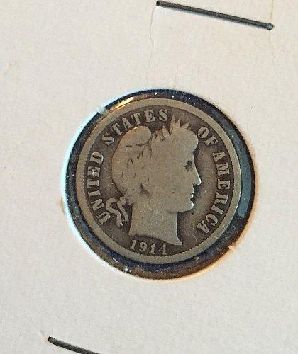 1914 Barber Dime (90% silver)