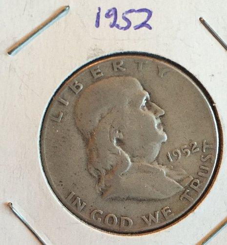 1952 Benjamin Franklin half-dollar
