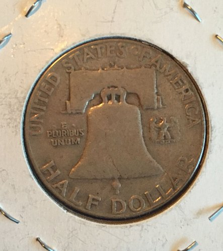 1951 Benjamin Franklin half-dollar