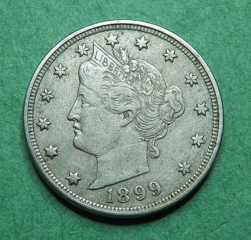 1899 Liberty V Nickel Very Fine Coin   d76