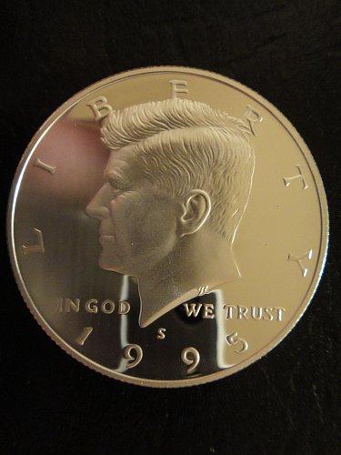 1995-S SILVER Proof Kennedy Half Dollar Proof-66 (GEM+) Fabulous Key Date!