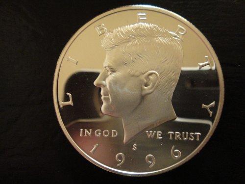 1996-S SILVER Proof Kennedy Half Dollar Proof-66 (GEM+)