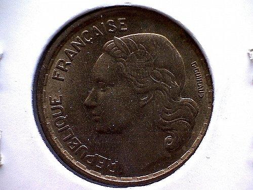 1955 FRANCE TEN FRANC