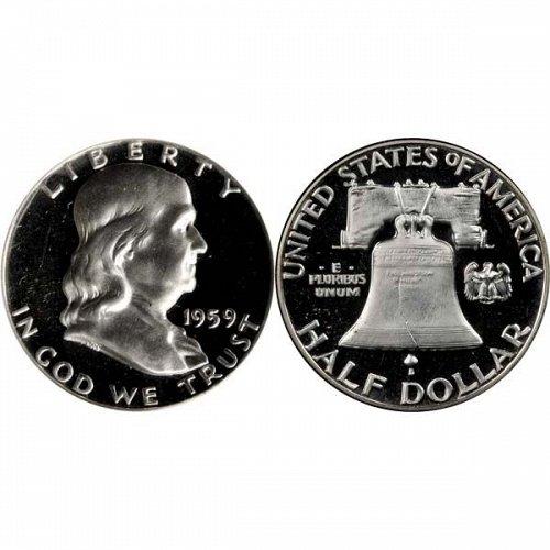 1959 Proof Franklin Half Dollar