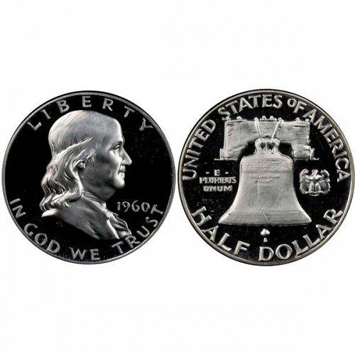 1960 Proof Franklin Half Dollar