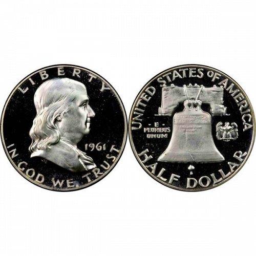 1961 Proof Franklin Half Dollar