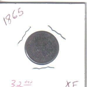 1865 P Indian Head Cent  Cent
