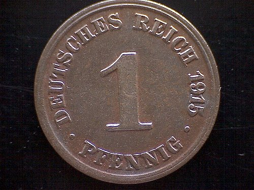 1915J GERMANY ONE PFENNIG