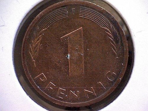 1986F GERMANY ONE PFENNIG