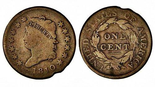 1810 - U.S.A. 1C CLASSIC HEAD - LARGE CENT