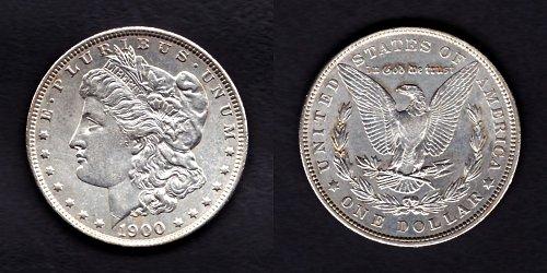 U.S.A. 1900 Mogan Dollar Piece extremely fine AUNC