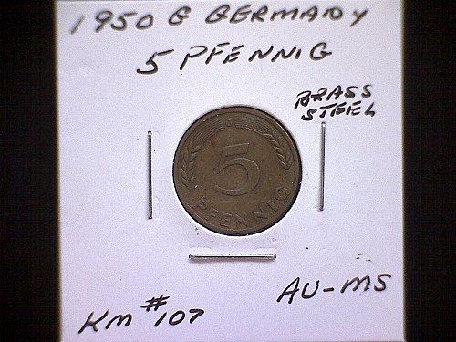 1950G GERMANY FIVE PFENNIG